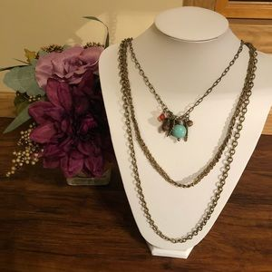 Jewelry - 3 Layer Necklace with Charms